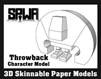 Throwback Promotional Paper Model