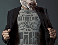 Design for a new fashion Brand. www.madeinpiigs.eu