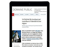 Domaine Public website redesign