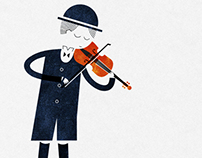 The violinist illustration