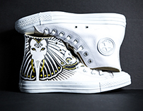 GANESH BUTTERFLY HAND ILLUSTRATED CONVERSE