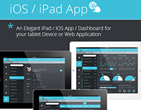Flat iPad iOS 7-Tablet App & Dashboard
