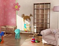 Stylowa tapeta w pokoju dziecka