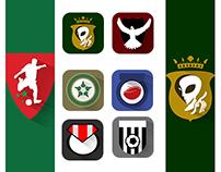 Moroccan Football Flat Logos | Extra