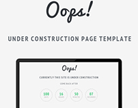 Oops! - Under Construction Page Template