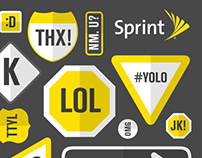 Sprint Text-and-Drive Print Ad