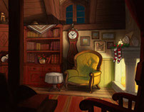 Backgrounds for animated Christmas tale
