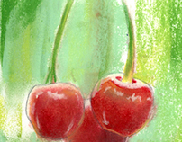 Pastel Fruit Studies