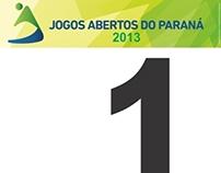 Placa numerada para ciclismo - Jogos Abertos do Paraná