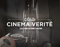 """Campaña de publicidad """"Cinema Verité"""" para Abito Lino."""