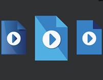 File Type Flat Icon Design