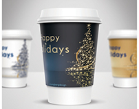 Coffee Cup Label Design
