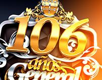 106 Años escudo