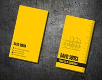 Cartão de visitas e logo para projetos de engenharia