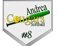 Softball Car Sticker