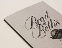 B&B Wedding Invite