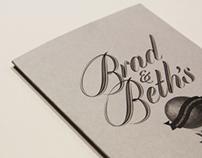 B&B Wedding Invite
