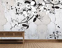 Funny and unusual wallpaper design