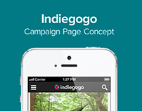 Indiegogo Campaign Page Concept