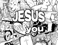 Jesus Doodle Shirt