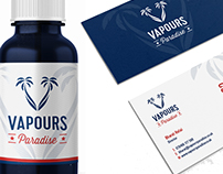 Identity Design & Digital Design for Vapours Paradise