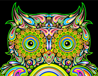 Owl Psychedelic on Zazzle!