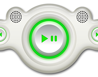 Digital MP3 Player UI Skin