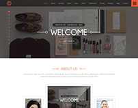 One Page Paralax Web template