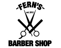 Fern's Barber Shop Logo