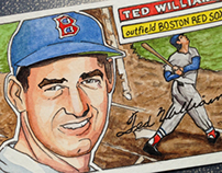 Hand made Ted Williams baseball card