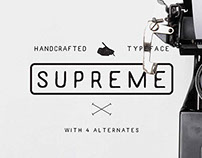 Supreme Handcrafted Typeface