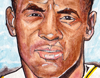 Commissioned Roberto Clemente card for Client