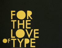 For The Love Of Type Slipcase