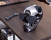"Bluetooth speaker with dock station ""AeroSkull HD"""