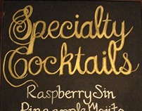 Chalkboard Art Las Vegas: Hand Scripted Type Signage