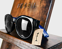 Fossil Collapsible Sunglasses Display