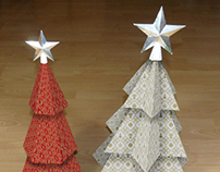 Paper Xmas Tree with Pattern