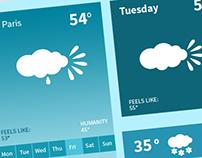 Weather Widget UI Kit Psd