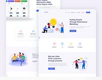 Marketing Landing page ui