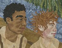 Jim and Huck Finn