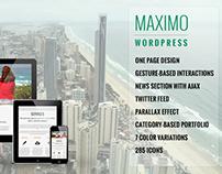Maximo - WordPress Responsive One Page Parallax Theme