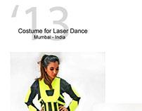 Costume desing - lazer dance show