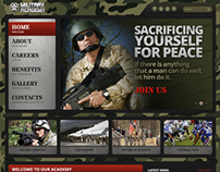 Strong Military Academy Bootstrap HTML Template