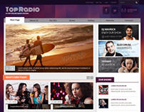 Top Online Radio Station Bootstrap HTML Template