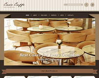 Cake Caffe Twitter Bootstrap HTML Template 300111719