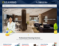Professional Cleaning Services Bootstrap HTML Template