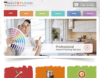 House Painting Studio Bootstrap HTML Template 300111758
