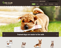 Dog Club Center Bootstrap HTML Template 300111761