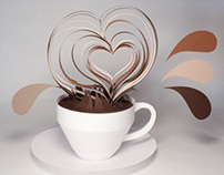 Paper sculpture - Scratch Café
