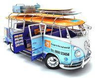3d model of a camper van